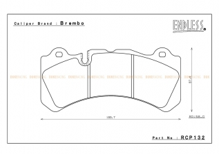 RCP132 MX72 PLUS для Brembo® GT6 Calipers Utilizing Wide Rotors (58mm pad depth) Brembo Pad # 07.9551.13 передние